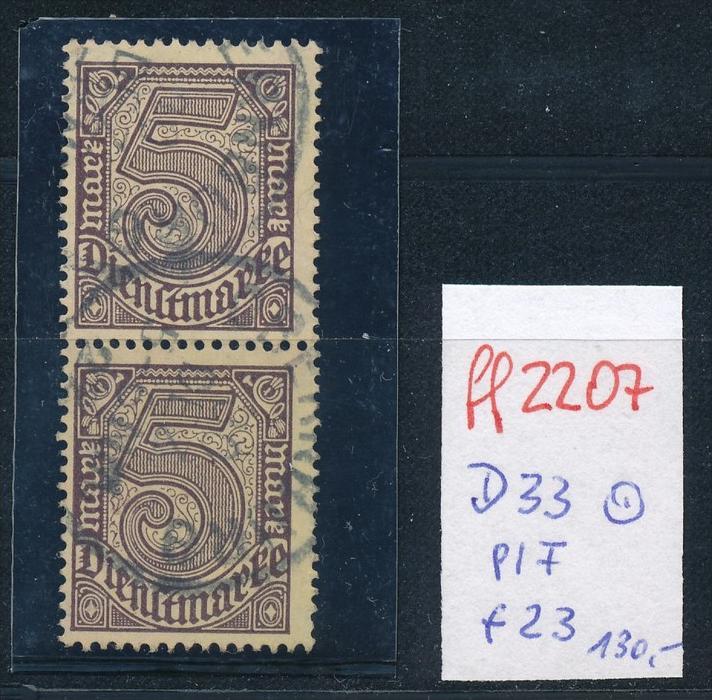 D.-Reich Nr. 2x D33 -1x PLF f23  o (ff2207  ) siehe scan