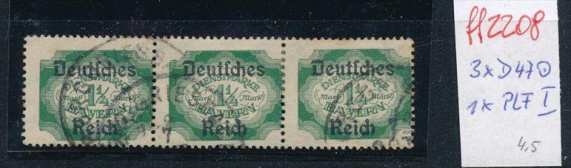 D.-Reich Nr. 3 x D47  -1x PLF  I  o (ff2208  ) siehe scan