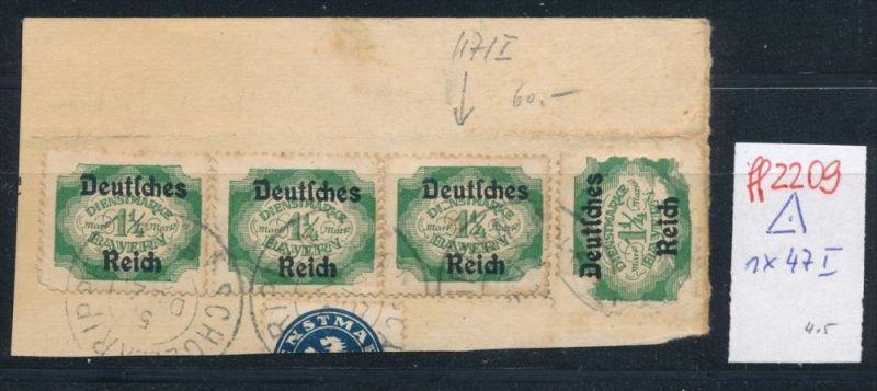 D.-Reich Nr. 4 x D47 -1x PLF  I  o (ff2209  ) siehe scan