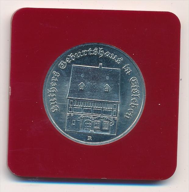 DDR   5,-Mark- Luther Geburtshaus 1983  -Bankfrisch  (x1904 )siehe scan !