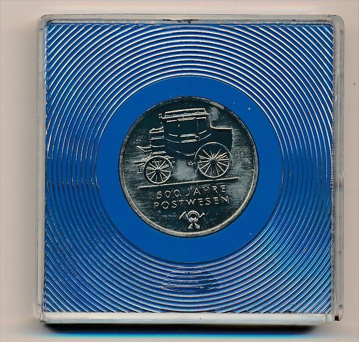 DDR 5,-Mark  -500 J.Postwesen -bankfrisch  (x1926 ) siehe scan !