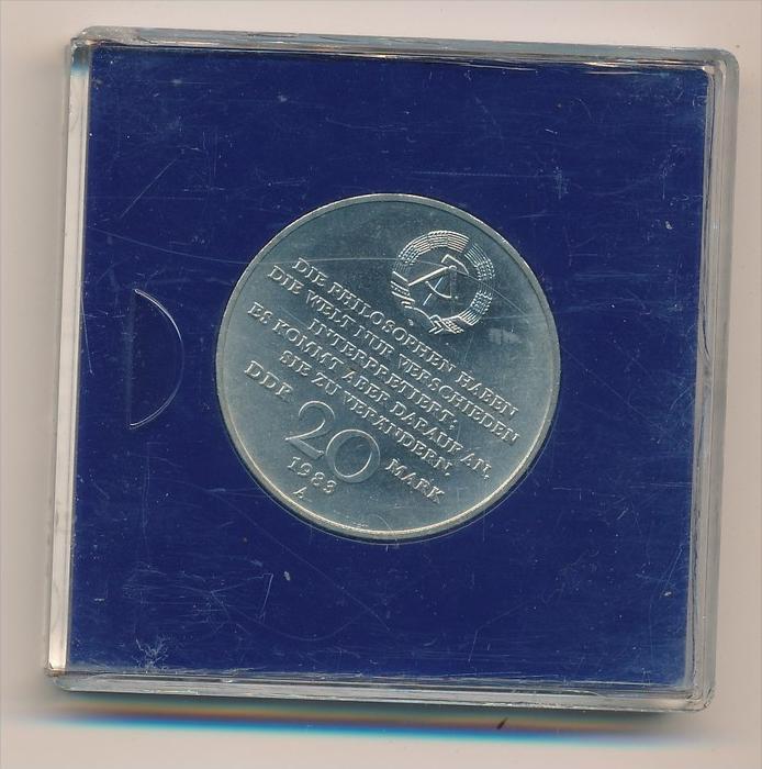 DDR      20,-Mark  - Karl-Marx 1983  bankfrisch (x1929 ) siehe scan ! 1