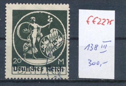 D.-Reich  Nr. 138   III    o       (ff2275   ) siehe Bild !