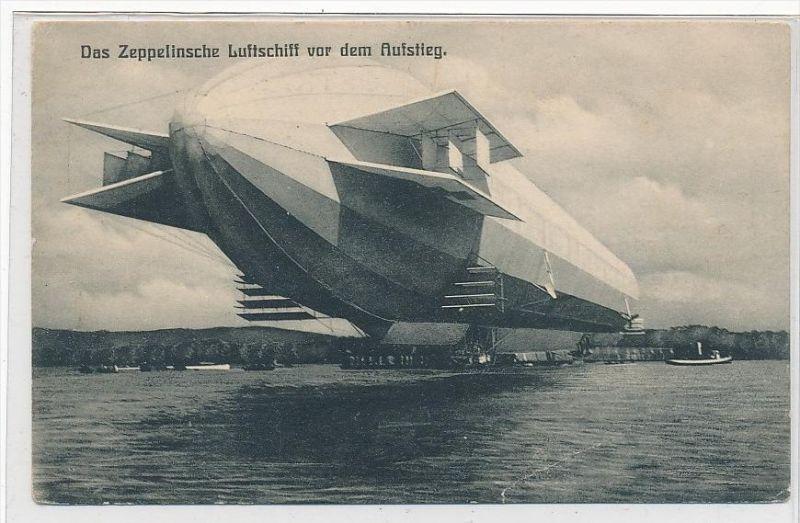 Zeppelin    -alte Karte  (da 4558 ) siehe scan !