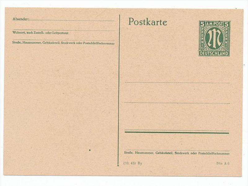 Zonen -AM Post Ganzsache (bc6882 ) siehe scan  !