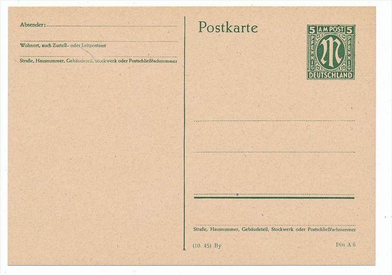 Zonen -AM Post Ganzsache (bc6883 ) siehe scan  !