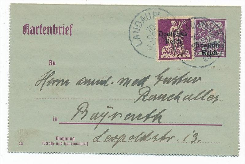 D.-Reich Karte  Infla  (bc6838 )  siehe scan   !