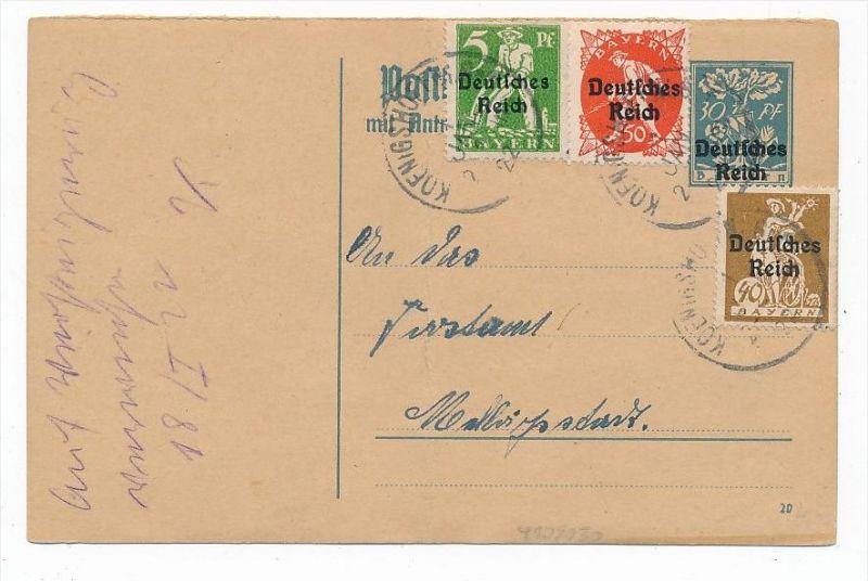 D.-Reich Karte  Infla  (bc6837 )  siehe scan   !
