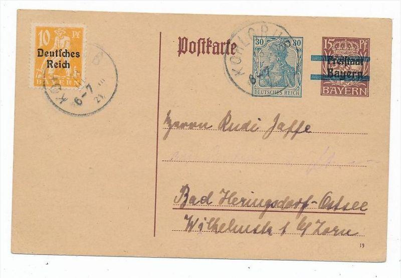 D.-Reich Karte  Infla  (bc6835 )  siehe scan   !