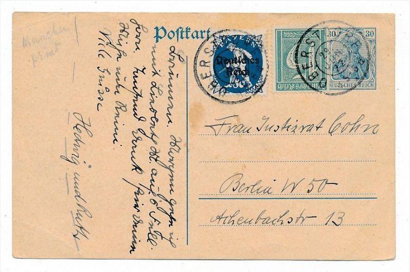D.-Reich Karte  Infla  (bc6834 )  siehe scan   !