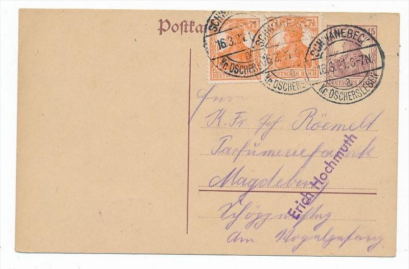 D.-Reich Karte  Infla  (bc6833 )  siehe scan   !