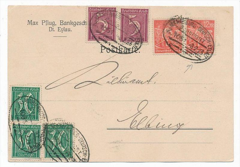 D.-Reich Karte  Infla  (bc6832 )  siehe scan   !