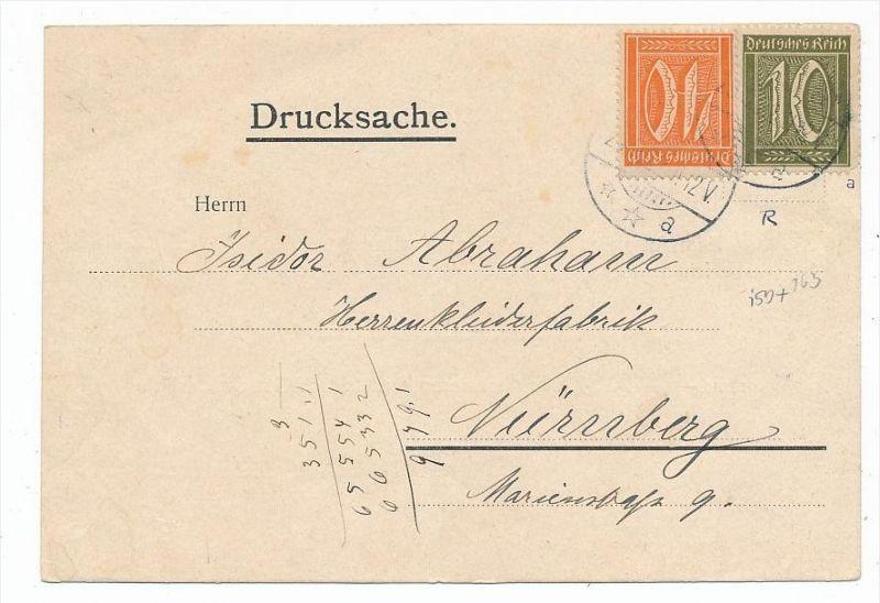 D.-Reich Karte  Infla  (bc6831 )  siehe scan   !
