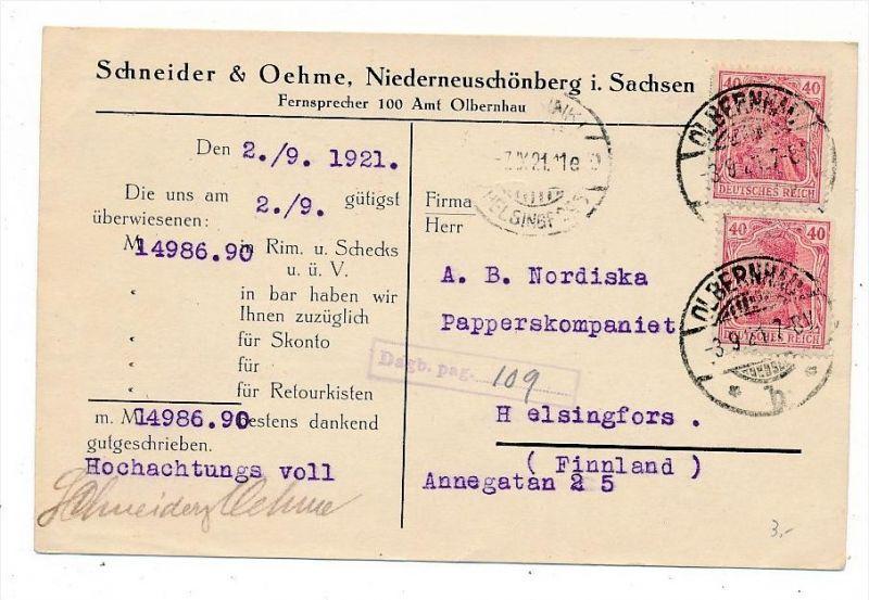 D.-Reich Karte  Infla  (bc6826 )  siehe scan   !