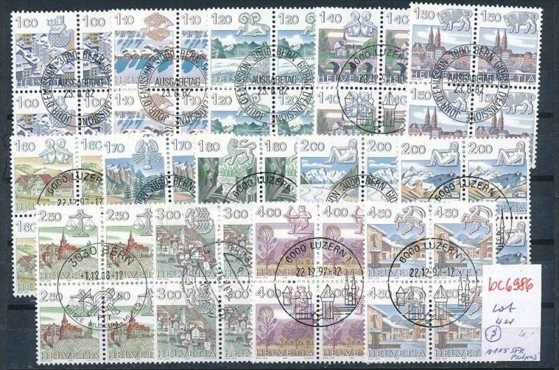 Liechtenstein Lot  diverse  -Vierer Blöcke  ~115 SFR Postpreis ( bc6986 ) siehe scan  !