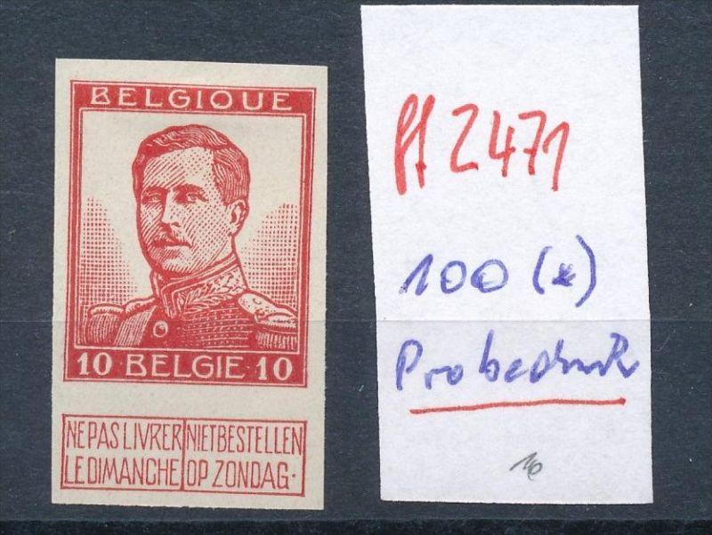 Belgien Nr. 100  U (*) Probedruck  (ff2471   ) siehe Bild !