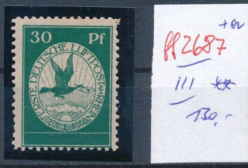 D.-Reich Nr.  III    Flugpost  **  ( ff2687 ) siehe scan vergrößert  !