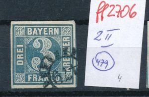 Bayern Nr.  2 II    -bitte Zettel beachten  ( ff2706  ) siehe scan vergrößert  !