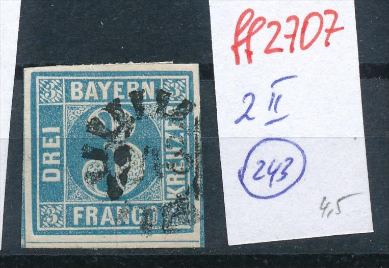 Bayern Nr.  2 II    -bitte Zettel beachten  ( ff2707 ) siehe scan vergrößert  !