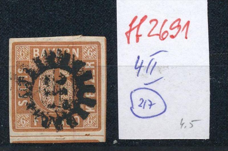 Bayern Nr.  4 II  -bitte Zettel beachten  ( ff2691 ) siehe scan vergrößert  !