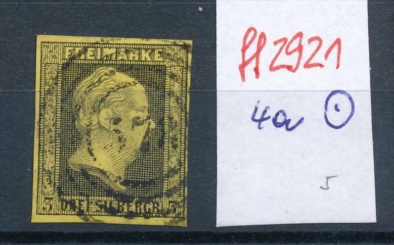 Preussen    Nr.  4a    o    -bitte Zettel beachten  ( ff2921 ) siehe scan vergrößert  !