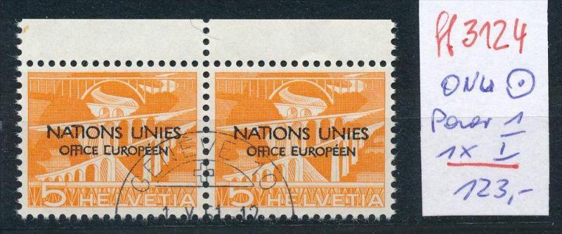 Schweiz -Abart Nr. ONU  Paar mit  1  I  o   (ff3124 ) siehe scan !