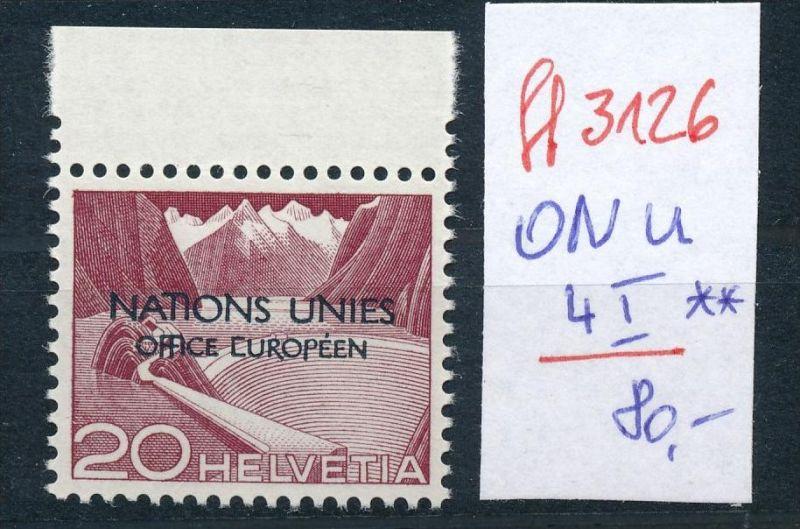 Schweiz -Abart Nr. ONU    4  I  **   (ff3126 ) siehe scan !