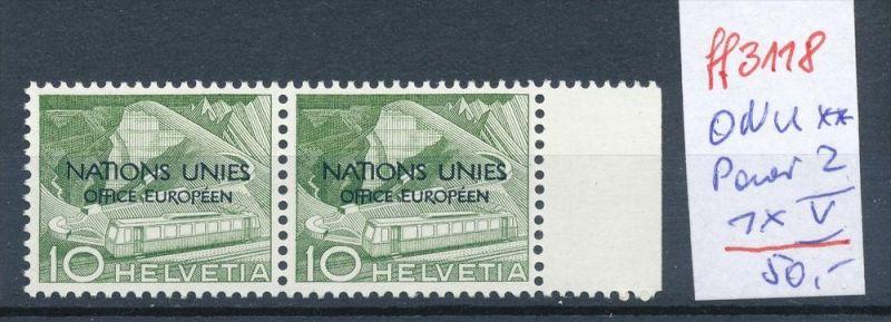 Schweiz -Abart Nr. ONU   Paar mit 2  V  **   (ff3118 ) siehe scan !