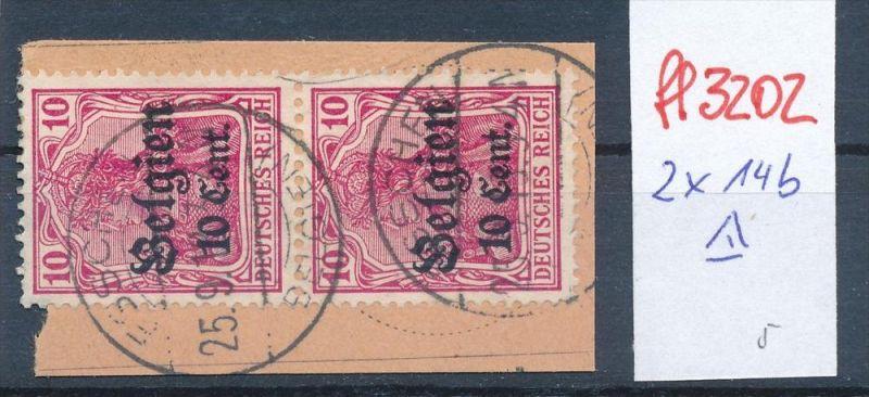 D.-Post in Belgien   Nr.  2x 14 b o    (ff3202  ) siehe scan !