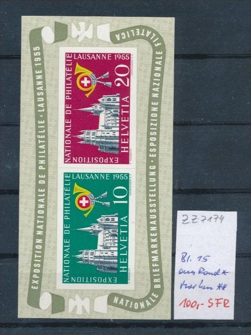 Schweiz Nr.  Block  15  * /Marken **     (zz7174 ) siehe scan  !