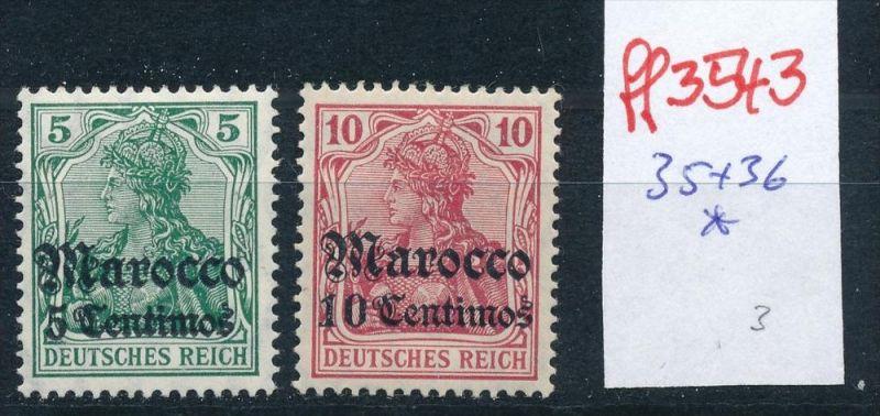 D.-Post in Marokko   Nr.  35-36    *  (ff3543  ) siehe scan vergrößert !