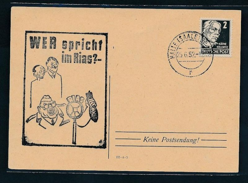 DDR  Propaganda Beleg  selten  (bc7653 ) siehe scan !