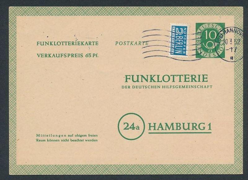 BRD -Ganzsache - Funklotterie  -FP 3 (bc7580  ) siehe scan !