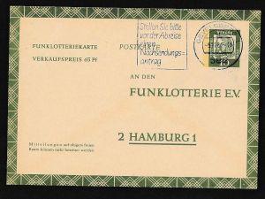 BRD -Ganzsache - Funklotterie  -FP  9   (bc7574  ) siehe scan !