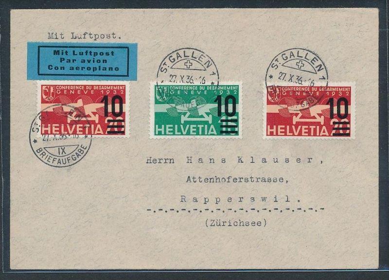 Schweiz  Flugpost Beleg 1936   (zz7387 ) siehe scan !