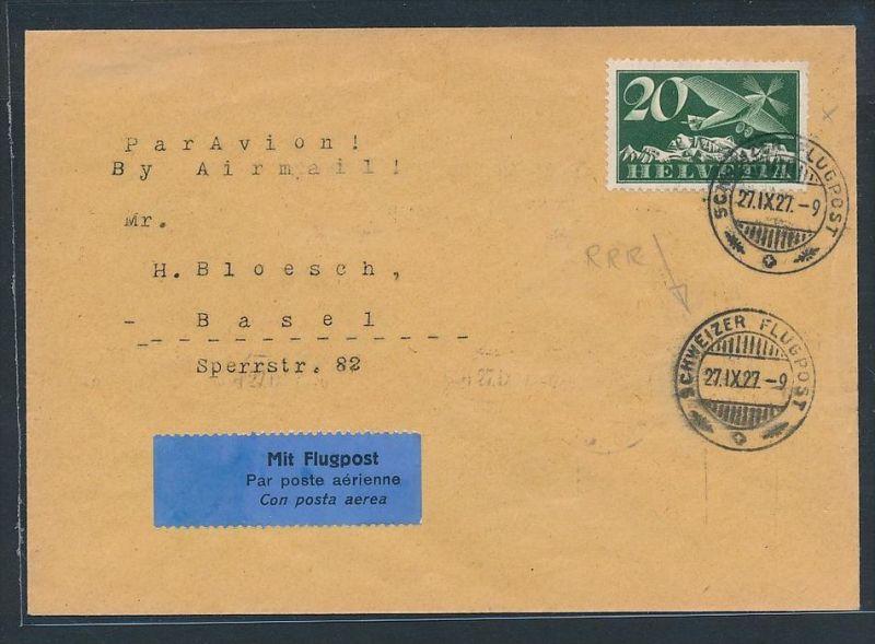 Schweiz  Flugpost Beleg 1922  mit213x  (zz7386 ) siehe scan !