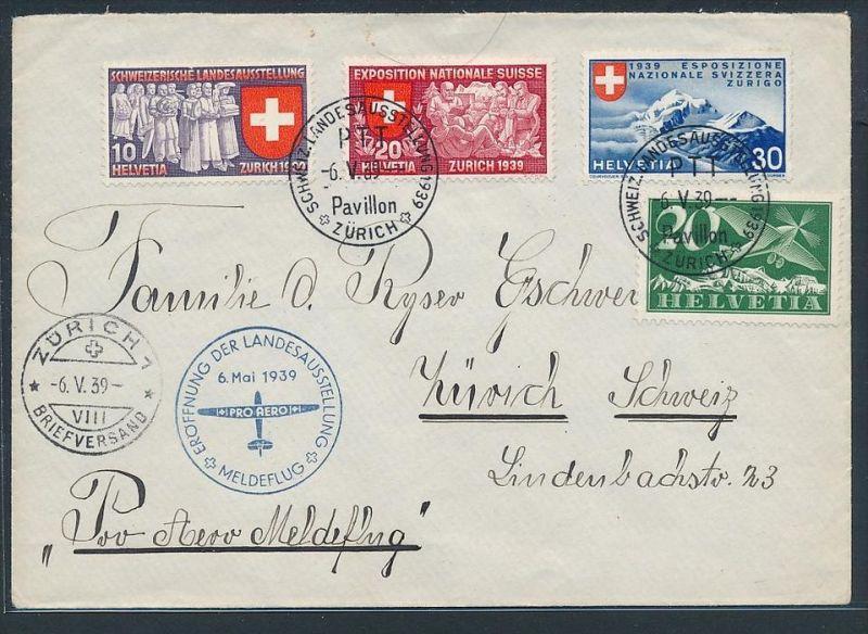 Schweiz  Flugpost Beleg 1939     (zz7384 ) siehe scan !