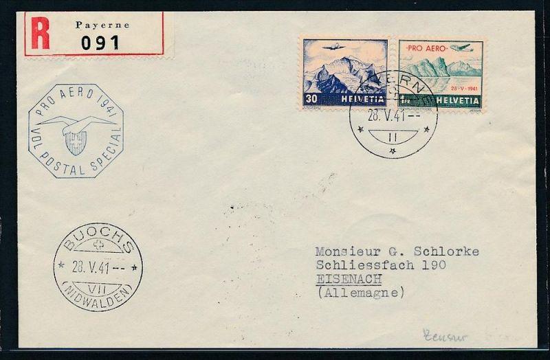 Schweiz  Flugpost Beleg 1941 zensur    (zz7383 ) siehe scan !