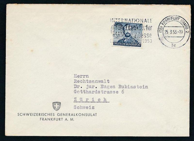 Bund Bedarfs Brief Ef 150 In Die Schweiz Zz7201 Siehe Scan Nr