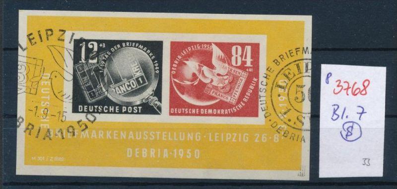 DDR Block 7 o     (p3768 ) siehe scan-alte Marken preiswert !