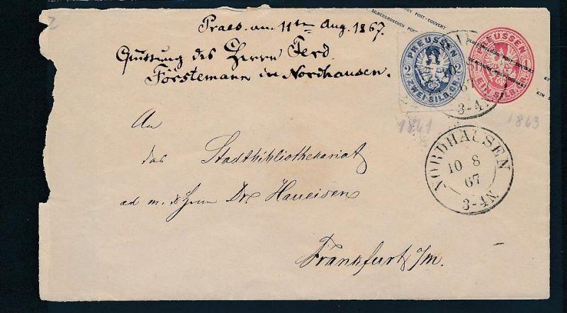 Preussen alter Beleg /Ganzsache    (bc8057  ) siehe scan !