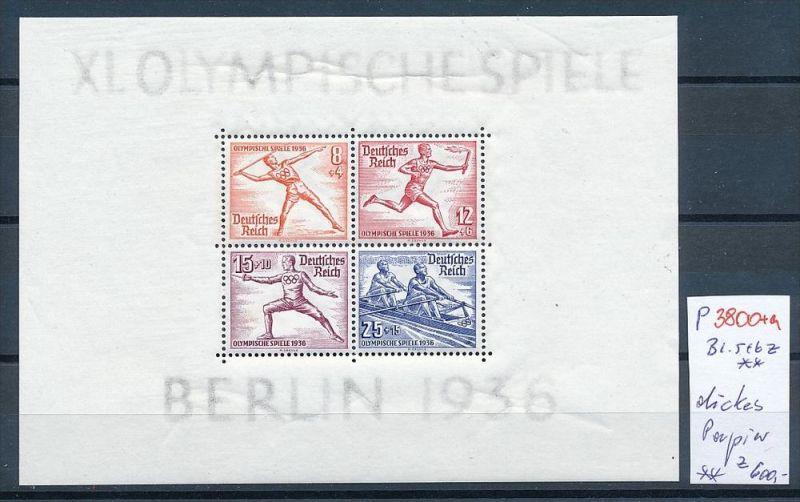 D.-Reich Nr. Block 5+6 dickes Papier