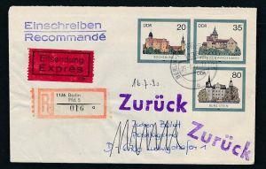 DDR Ganzsache Burgen  R.+Express    o  (bc8270 ) siehe scan  !