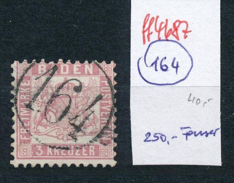 Baden  Stempel 164 ....  (ff4687  )  siehe vergrößerten scan  !