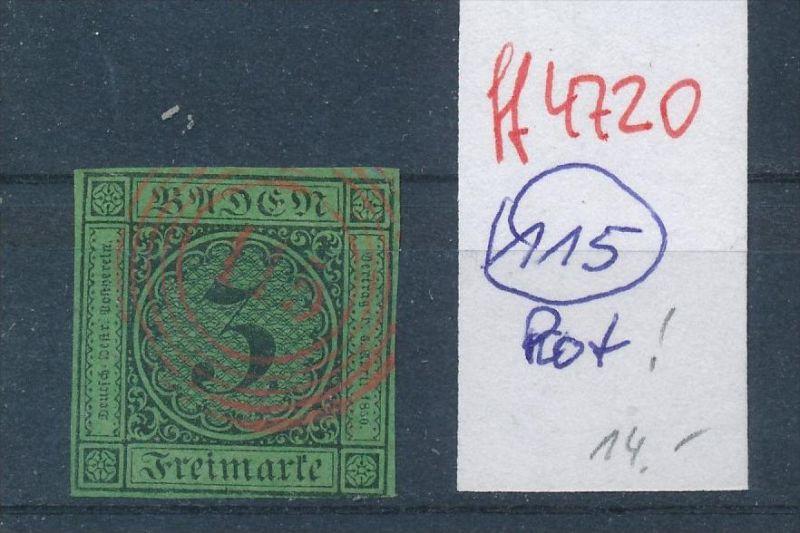 Baden  Stempel 115 rot   (ff4720   )  siehe vergrößerten scan  !