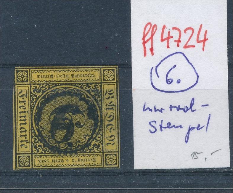 Baden  Stempel  6 Uhrrad    (ff4724   )  siehe vergrößerten scan  !
