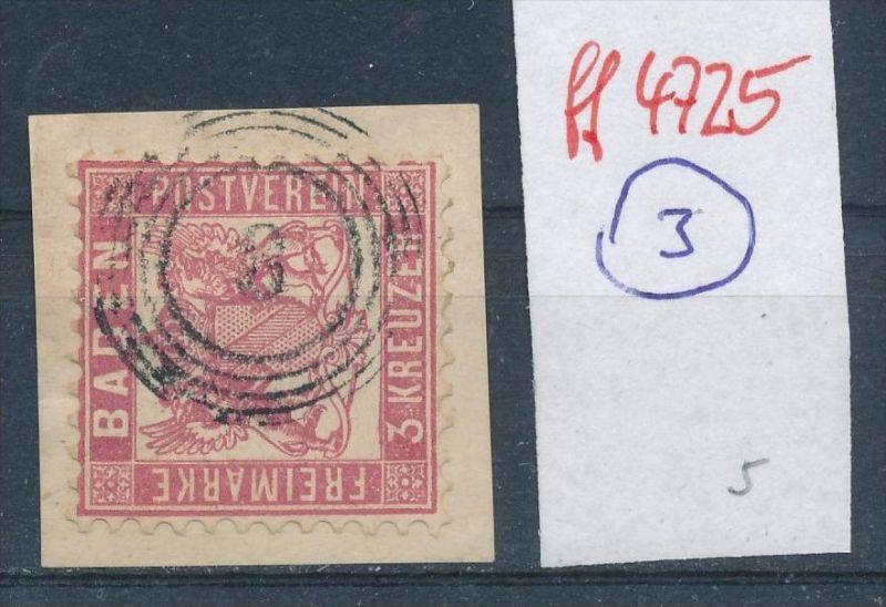 Baden  Stempel   2     (ff4725   )  siehe vergrößerten scan  !
