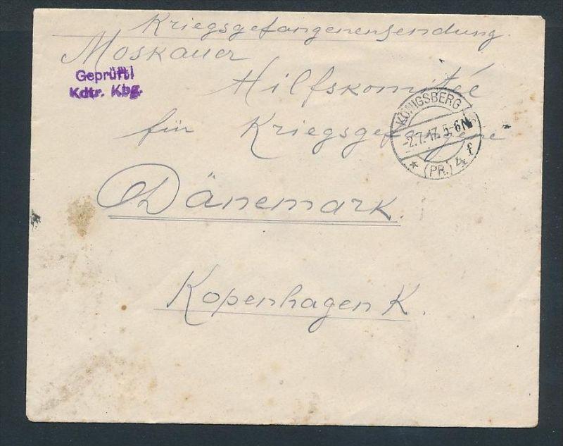 Kriegsgefangenen Sendung -Rot Kreuz (zz8112 ) siehe scan !