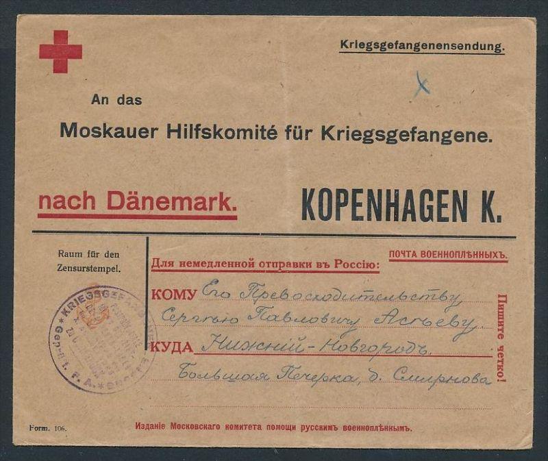 Kriegsgefangenen Sendung -Rot Kreuz (zz8110 ) siehe scan !