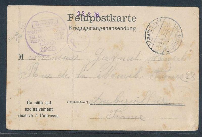 Kriegsgefangenen Sendung -Prisonier of war -Bedarf(bc9188  ) siehe scan !